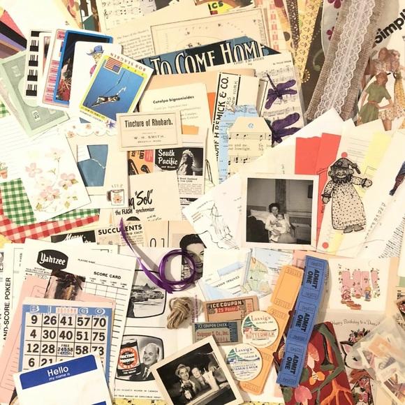 Paper Pack 250+ Vintage Scrapbook Craft Rare Finds